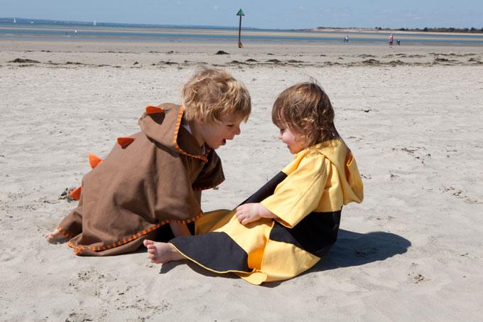 Poncho na plażę