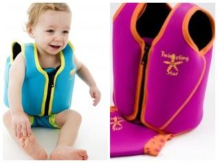 Float Jacket – kamizelka z regulacją pływalności do nauki pływania 3-6 lat turkusowa-COLLAGE