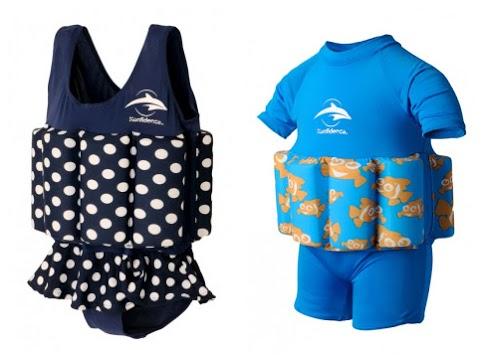 Kostium z pływakami Konfidence - Floatsuit Kropki 4-5 lat-COLLAGE
