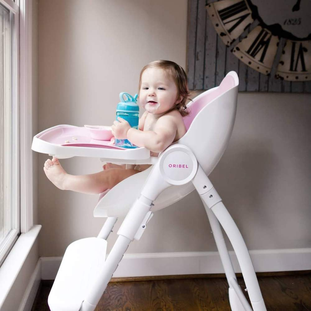 rozszerzanie diety - krzeselko oribel rozowe